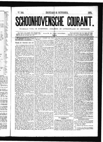 Schoonhovensche Courant 1875-10-31