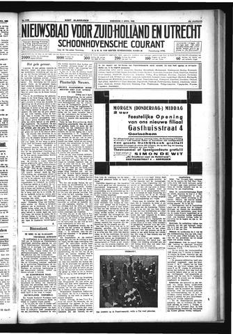 Schoonhovensche Courant 1933-04-05