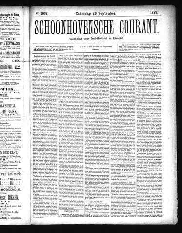 Schoonhovensche Courant 1888-09-29
