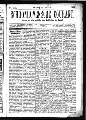 Schoonhovensche Courant 1909-01-23