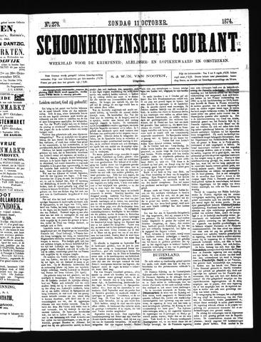 Schoonhovensche Courant 1874-10-11