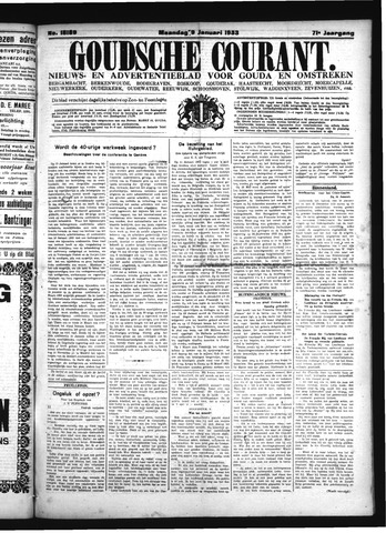 Goudsche Courant 1933-01-09