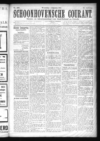 Schoonhovensche Courant 1923-08-01