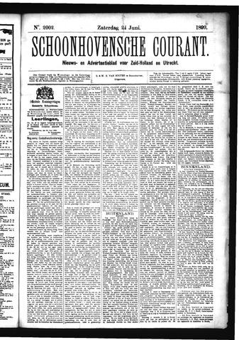 Schoonhovensche Courant 1899-06-24