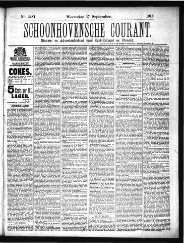 Schoonhovensche Courant 1913-09-17
