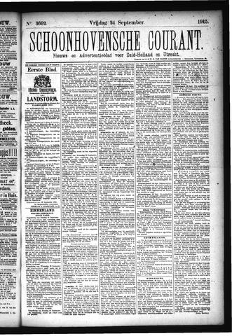 Schoonhovensche Courant 1915-09-24
