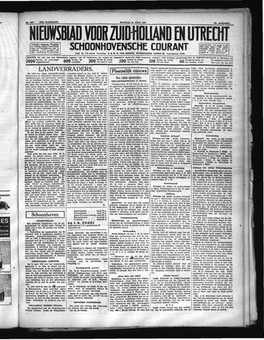 Schoonhovensche Courant 1938-04-25