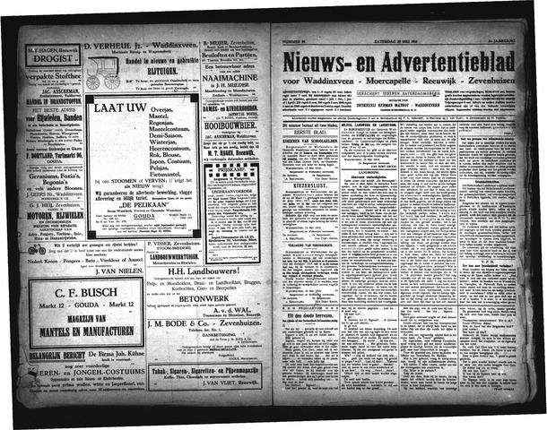 Advertentieblad Waddinxveen 1916-05-20