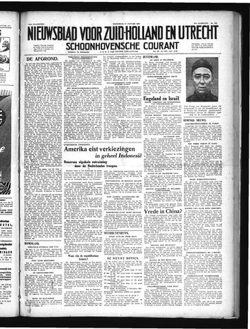 Schoonhovensche Courant 1949-01-12