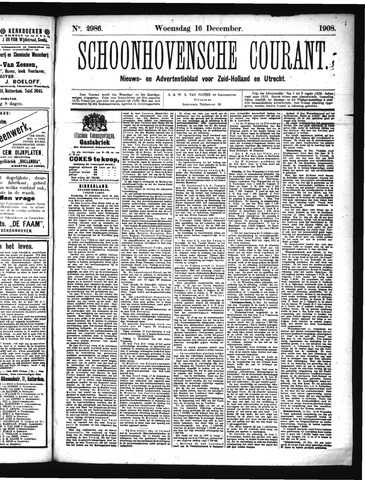 Schoonhovensche Courant 1908-12-16