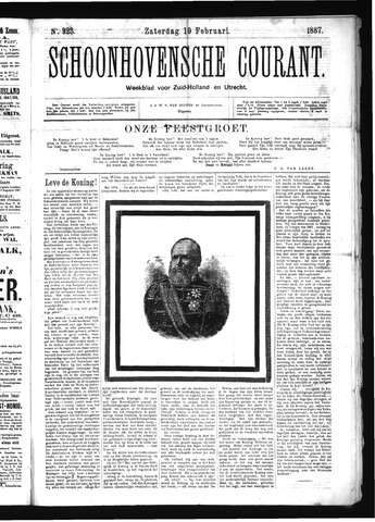 Schoonhovensche Courant 1887-02-19