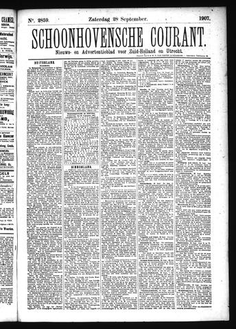 Schoonhovensche Courant 1907-09-28