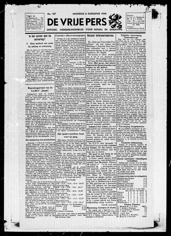 De Vrije Pers 1945-08-06