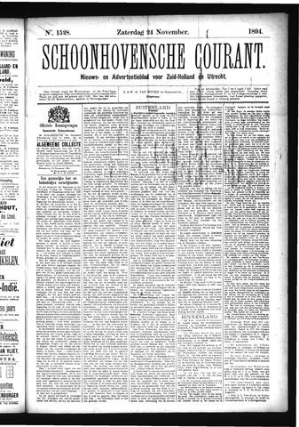 Schoonhovensche Courant 1894-11-24