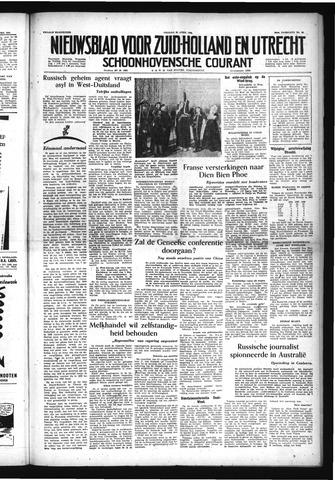 Schoonhovensche Courant 1954-04-23