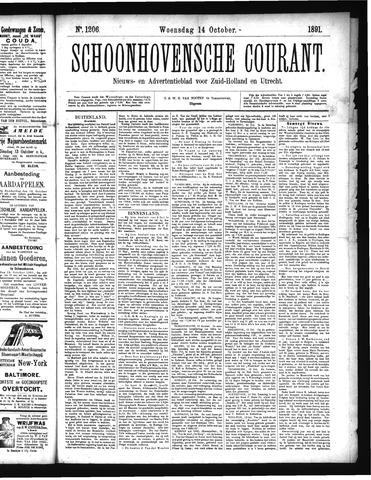 Schoonhovensche Courant 1891-10-14