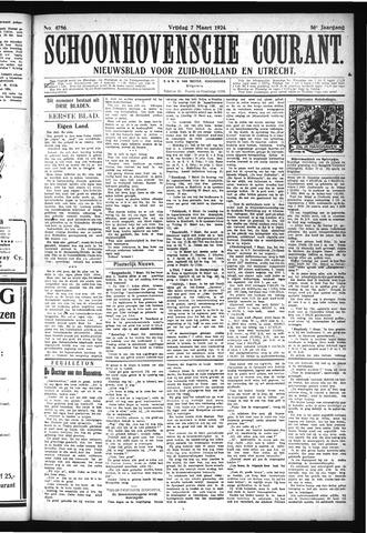 Schoonhovensche Courant 1924-03-07