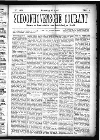 Schoonhovensche Courant 1895-04-20
