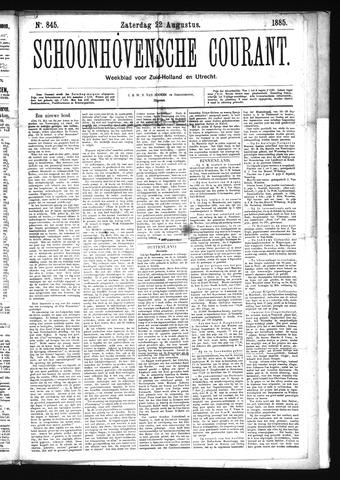 Schoonhovensche Courant 1885-08-22