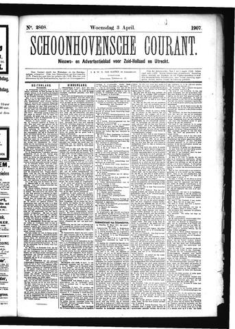 Schoonhovensche Courant 1907-04-03