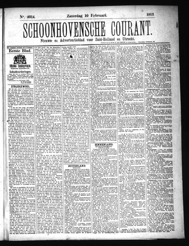 Schoonhovensche Courant 1912-02-10