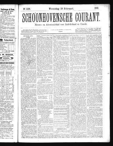 Schoonhovensche Courant 1891-02-18