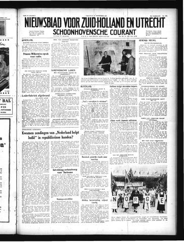 Schoonhovensche Courant 1949-09-12