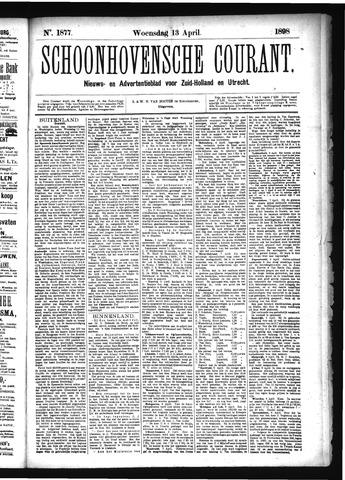Schoonhovensche Courant 1898-04-13