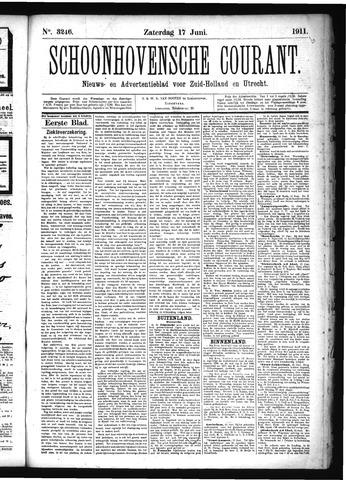 Schoonhovensche Courant 1911-06-17