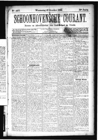Schoonhovensche Courant 1920-10-27