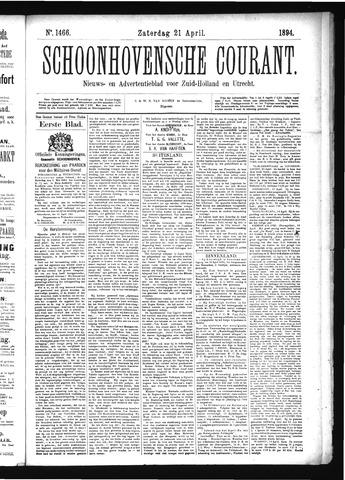 Schoonhovensche Courant 1894-04-21