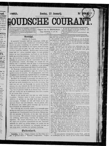 Goudsche Courant 1865-01-22
