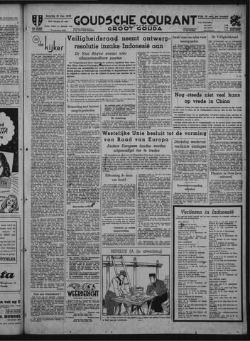 Goudsche Courant 1949-01-29