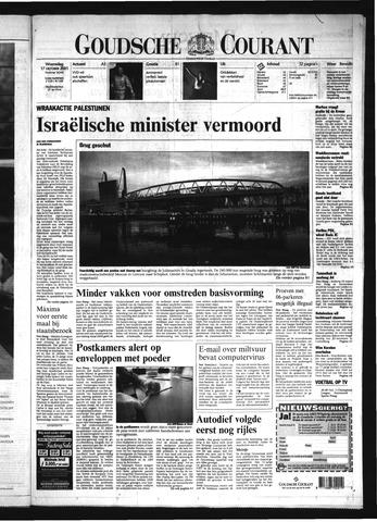 Goudsche Courant 2001-10-17