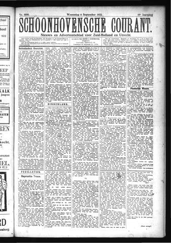 Schoonhovensche Courant 1922-09-06
