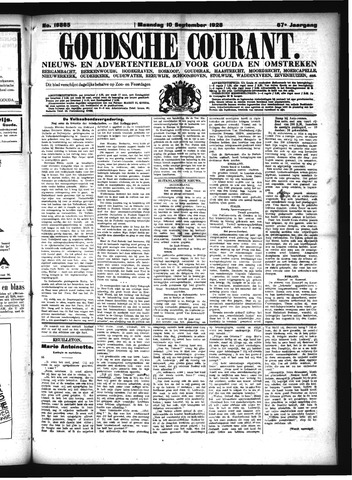 Goudsche Courant 1928-09-10