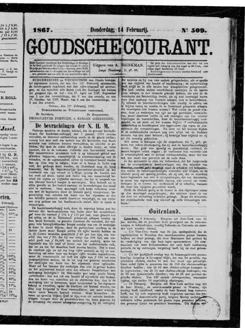 Goudsche Courant 1867-02-14