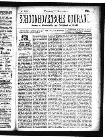 Schoonhovensche Courant 1899-09-27