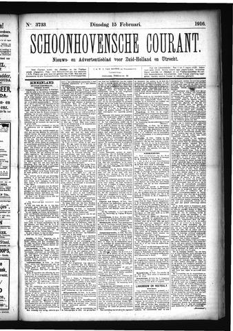 Schoonhovensche Courant 1916-02-15