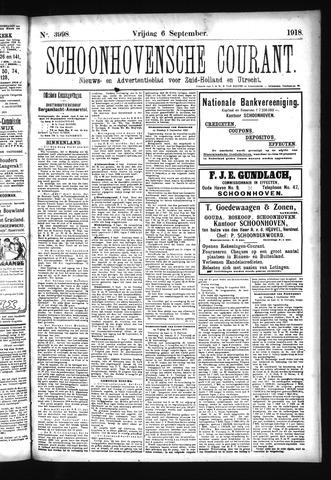 Schoonhovensche Courant 1918-09-06