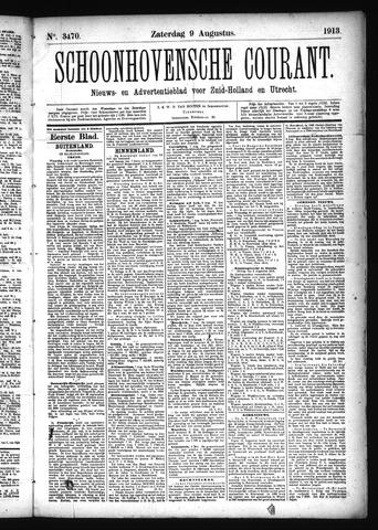 Schoonhovensche Courant 1913-08-09