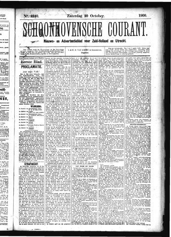 Schoonhovensche Courant 1900-10-20