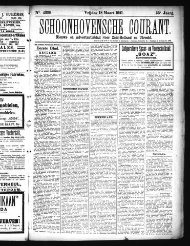 Schoonhovensche Courant 1921-03-18