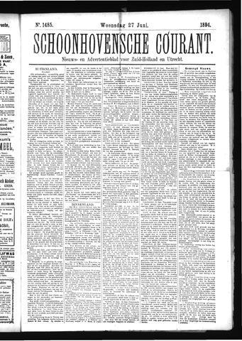 Schoonhovensche Courant 1894-06-27