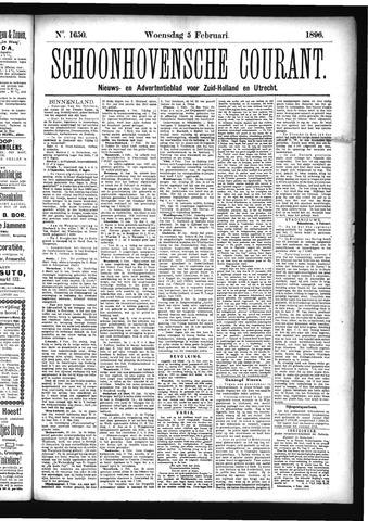 Schoonhovensche Courant 1896-02-05