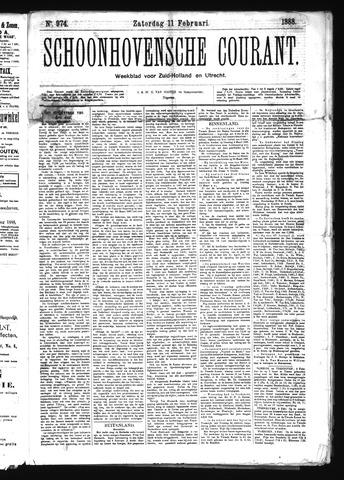 Schoonhovensche Courant 1888-02-11
