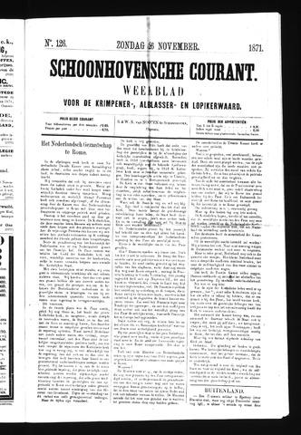 Schoonhovensche Courant 1871-11-26