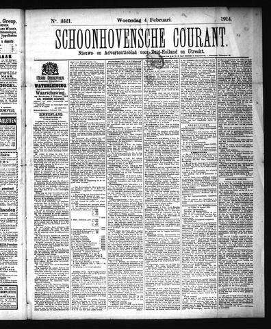 Schoonhovensche Courant 1914-02-04