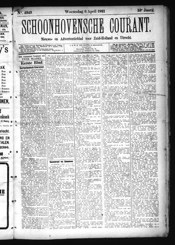 Schoonhovensche Courant 1921-04-06