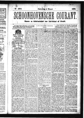 Schoonhovensche Courant 1899-03-04